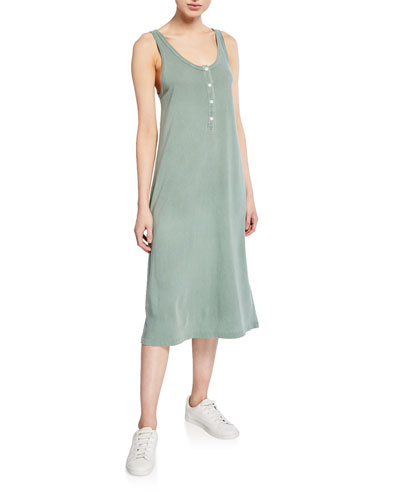 The Slim Henley Tank Dress