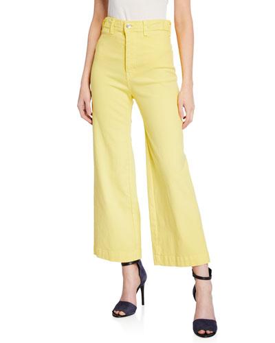 Cynthia Cropped Wide-Leg Jeans