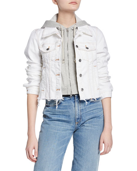 Cara Jean Jacket with Removable Hoodie Trim