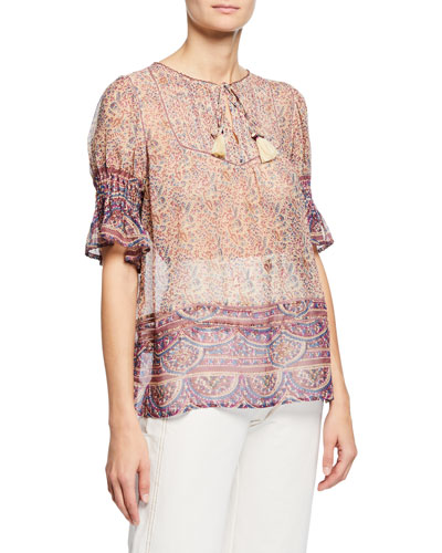 Bella Printed Short-Sleeve Top