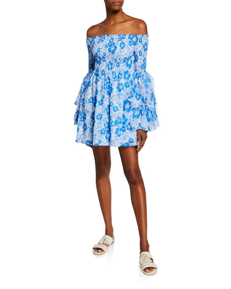 All Things Mochi Kanoa Floral-Print Off-the-Shoulder