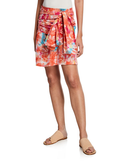 All Things Mochi Skirts MABEL TIE-DYE WRAP SKIRT