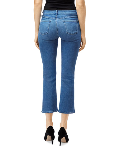 Selena Mid-Rise Crop Boot-Cut Jeans