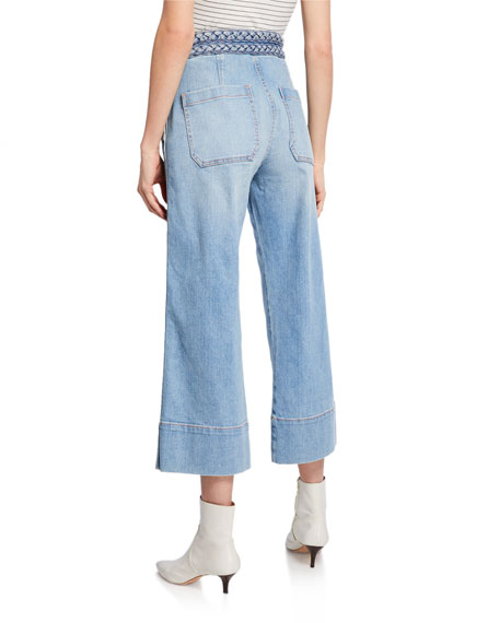 The Braided High-Waist Cropped Jeans