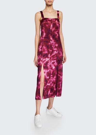 de7e9335bcfdf Alexa tie-dye button-front sleeveless dress Quick Look. cinq a sept
