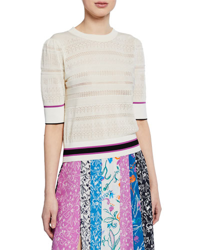 Leticia Banded Striped Sweater