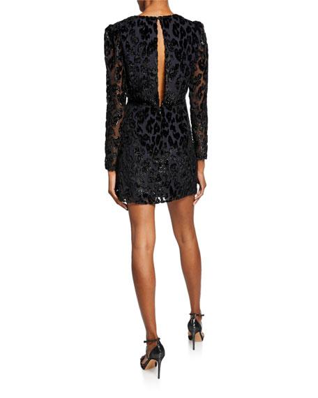 Metallic Leopard Cocktail Dress