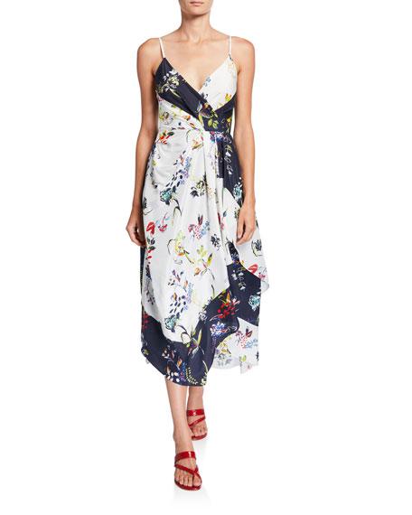 Catia Sleeveless Floral Scarf Dress