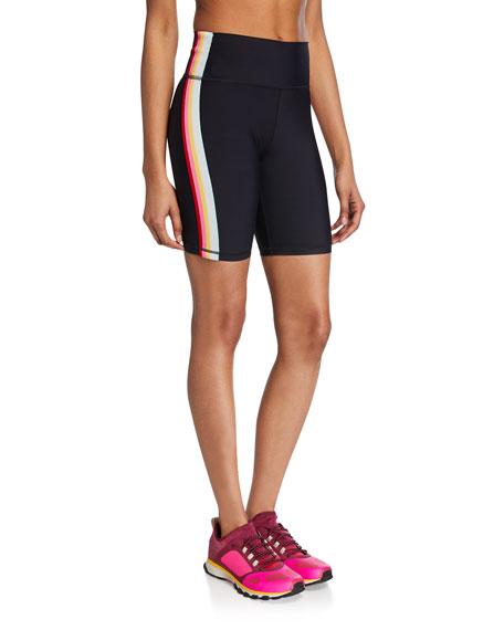 Side Striped Biker Shorts