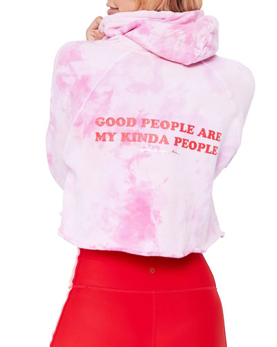 Good People Stella Rocker Tie Dye Cropped Pullover Hoodie
