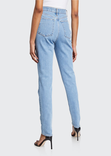 Femme Hi Spikes Straight-Leg Ankle Jeans