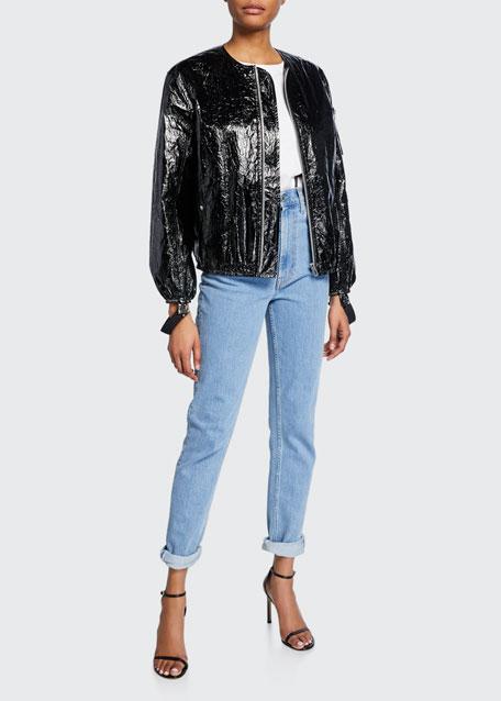 Helmut Lang Jeans FEMME HI SPIKES STRAIGHT-LEG ANKLE JEANS