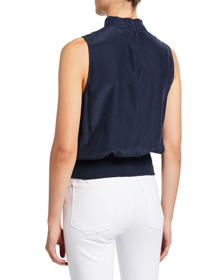 Sleeveless High-Neck Party Top