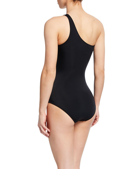 Daring One-Shoulder Mesh One-Piece Swimsuit