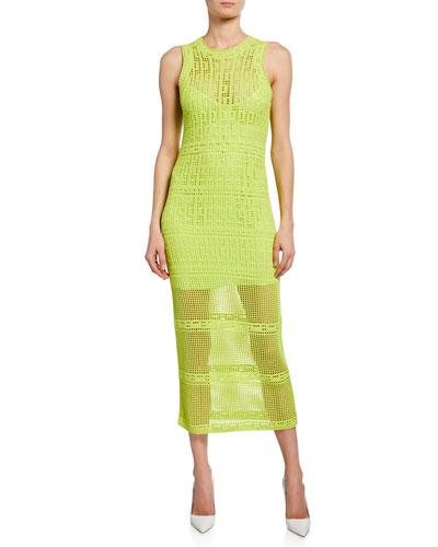 Monaghan Sleeveless Crochet Dress