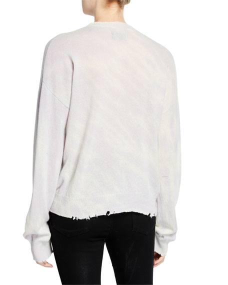 Emma Distressed Cashmere Pullover Sweater