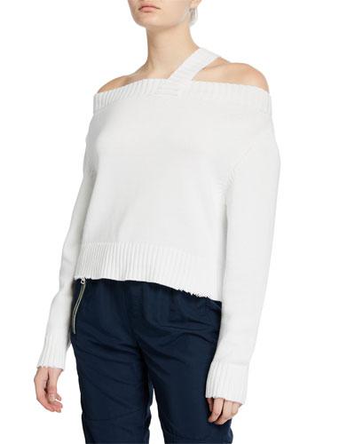 Beckett Off-Shoulder Sweater  White