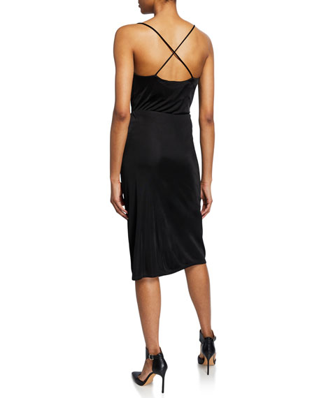 Cowl-Neck Cross-Back Camisole