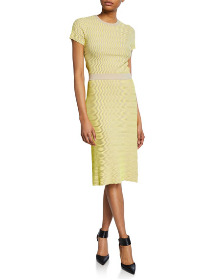Squiggle Pencil Skirt