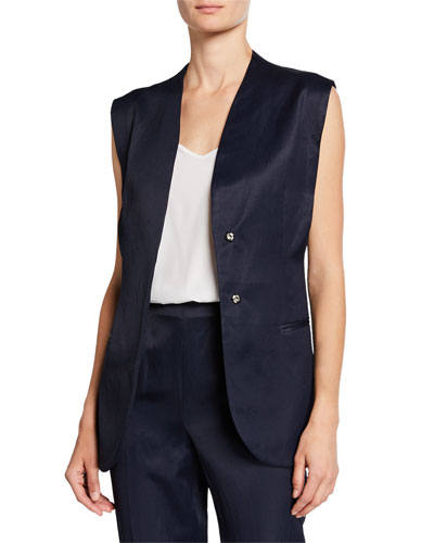 Circuit Belted Snap-Front Vest