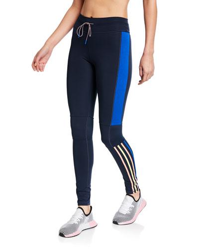Drawstring Side Striped Yoga Pants