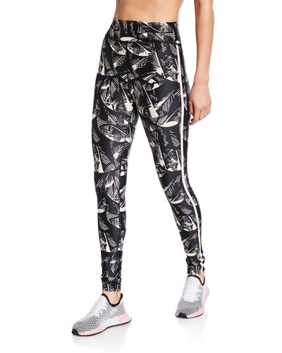 Japanese First Dance Leaf-Print Ankle Pants