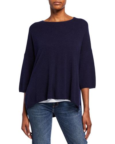 Callisto Half-Sleeve Baby Cashmere Sweater