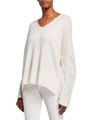 Tatyana V-Neck Cashmere/Silk Sweater