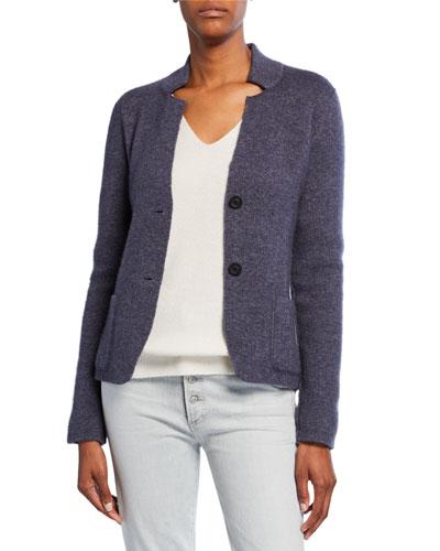 Phoebe Cashmere Double-Face Knit Jacket