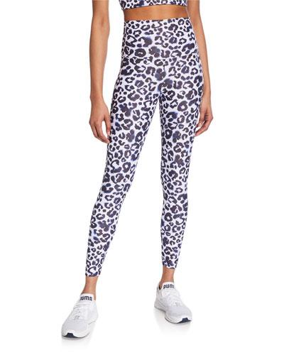 Piper High-Waist Leopard-Print Leggings