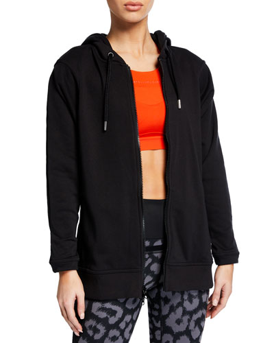 43ff646f05d2 Promotion Essential Long-Sleeve Hoodie Jacket Quick Look. adidas by Stella  McCartney