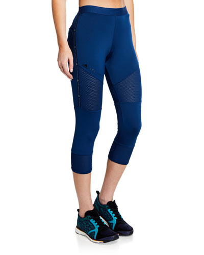 Performance Essentials Mesh Panel Capri Tights