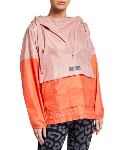 c8ea0c9dba7 Colorblock Mesh Hoodie Wind Jacket Quick Look. adidas by Stella McCartney