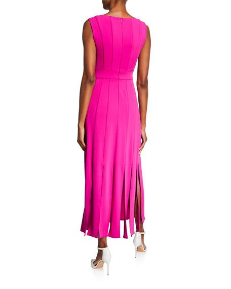 Carwash Sleeveless Midi Dress