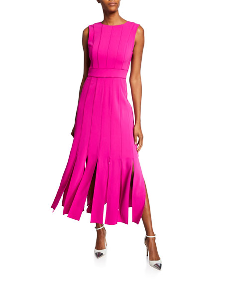 Badgley Mischka Collection Carwash Sleeveless Midi Dress