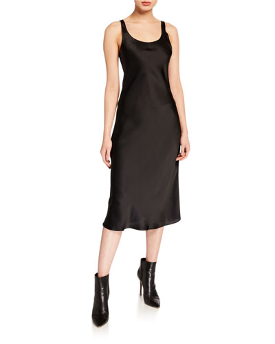 Charlie Silk Slip Midi Dress