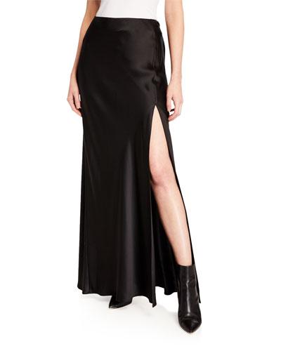 Isabella Silk Skirt with Slit