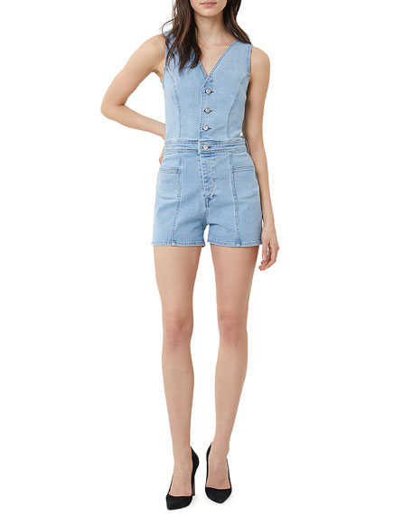 3x1 Tops ALBANY DENIM ROMPER