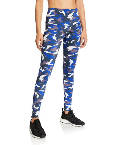Camo Print High-Rise Leggings
