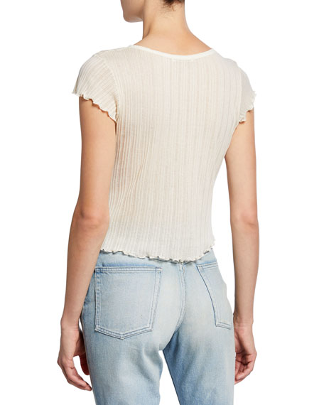 Avery Cap-Sleeve Crop Tee