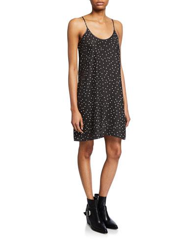 Polka-Dot Silk Cami Dress