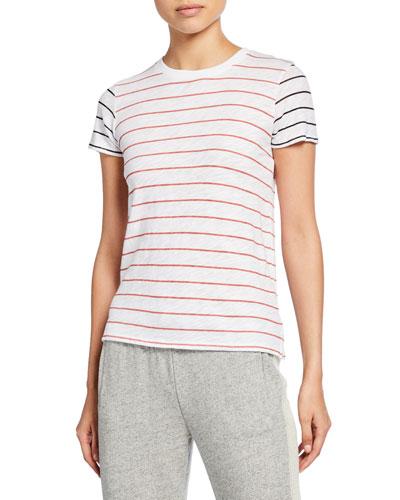 1040eb8e8507c Striped Slub Jersey Short-Sleeve Cotton Tee