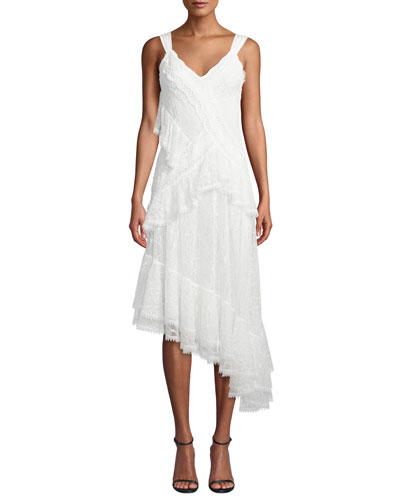 Augustine Embroidered High-Low Dress