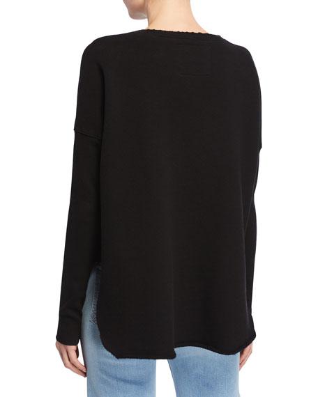 Relaxed Long-Sleeve Cotton Sweatshirt