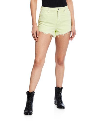 Bite High-Rise Frayed Shorts