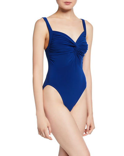 8929b95203e Twist-Front High-Cut Mio One-Piece Swimsuit Quick Look. Norma Kamali