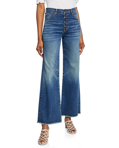 Kirra Flood Length Fringe Jeans