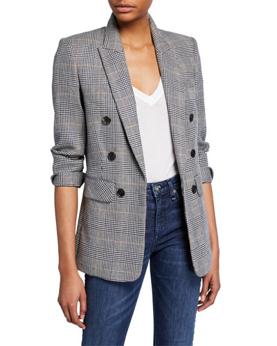 Bexley Fuller Check Single-Button Dickey Jacket