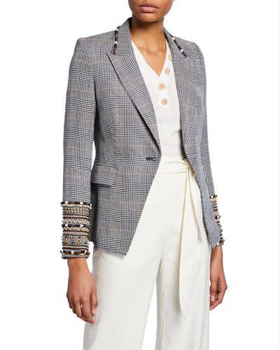Bronley Tailor Fit Embroidered Dickey Jacket