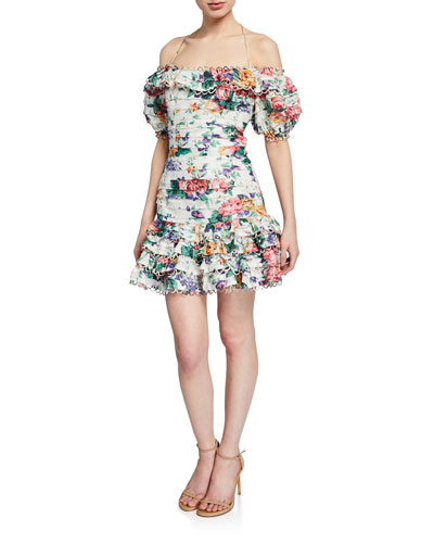 ee82c90cdff Promotion Allia Floral Pintuck Mini Dress Quick Look. Zimmermann